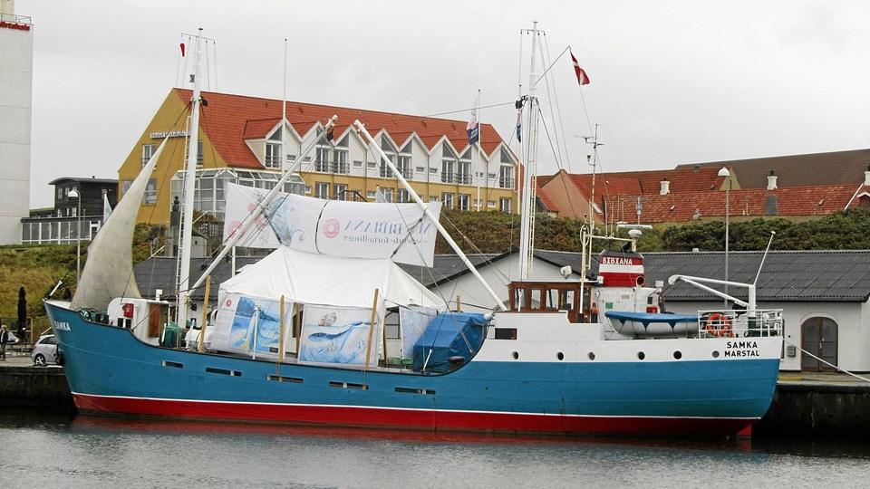 M/S Samka - her foreviget i Hirtshals Havn, fylder 60 år 28. september og fejres ved Utzon Centret. Foto: Preben Andreasen