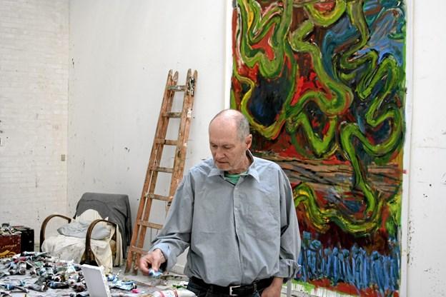 24. oktober er der foredrag om kunstneren Per Kirkeby. Arkivfoto: Arne Mariager