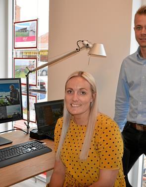 Duo har fået fin start som ejendomsmægler i Støvring