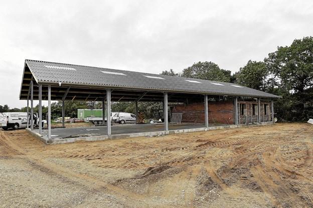 I starten af december tages det nye byggeri i brug - det markeres med en reception. Foto: Ole Iversen