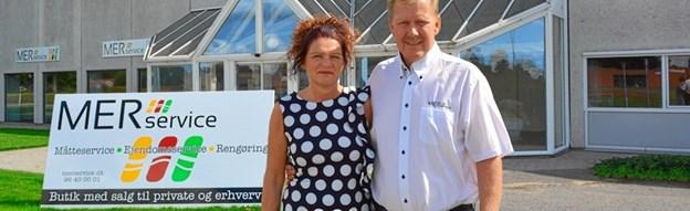 Marianne og Johnni Kristensen har siden 2003 drevet MER Service.    Privatfoto