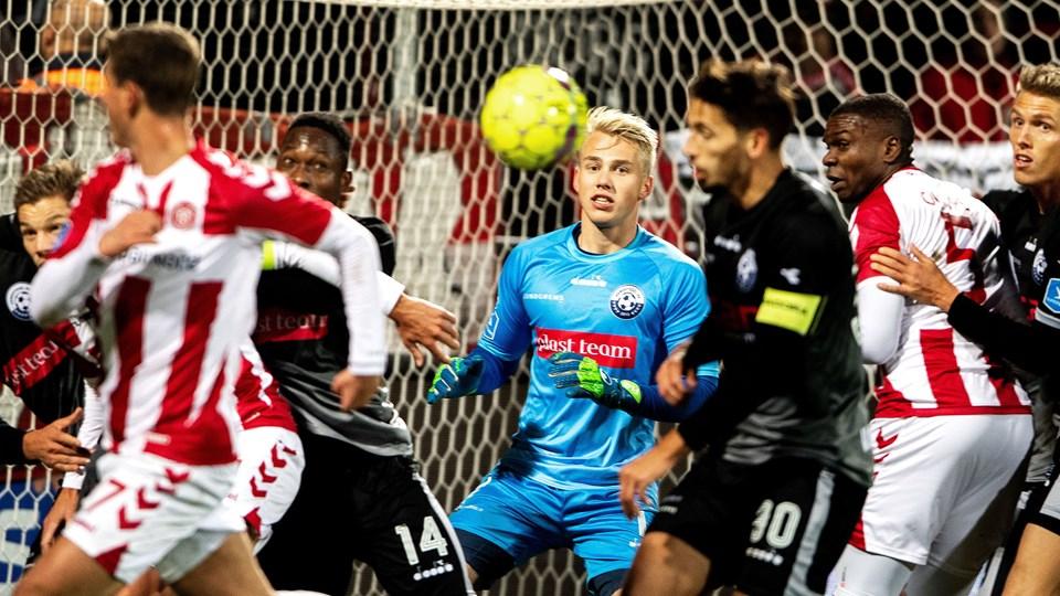 Nicolai Flø formåede at holde nullet for første gang i sæsonen. Foto: Laura Guldhammer