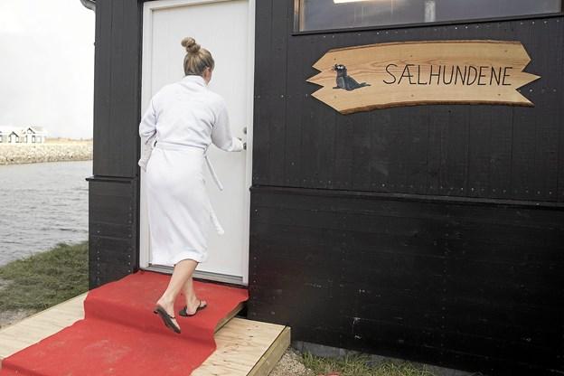 Efter indvielsen var der naturligvis mulighed for at teste den nye sauna. Foto: Allan Mortensen