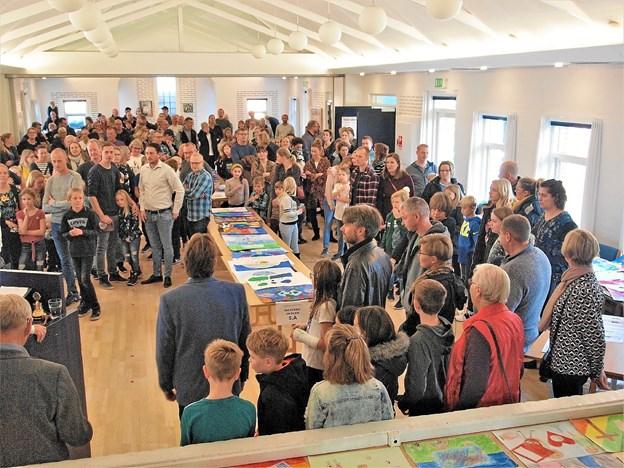 Der var stor interesse for Lions kunstprojekt. Foto: Viggo Jørgensen