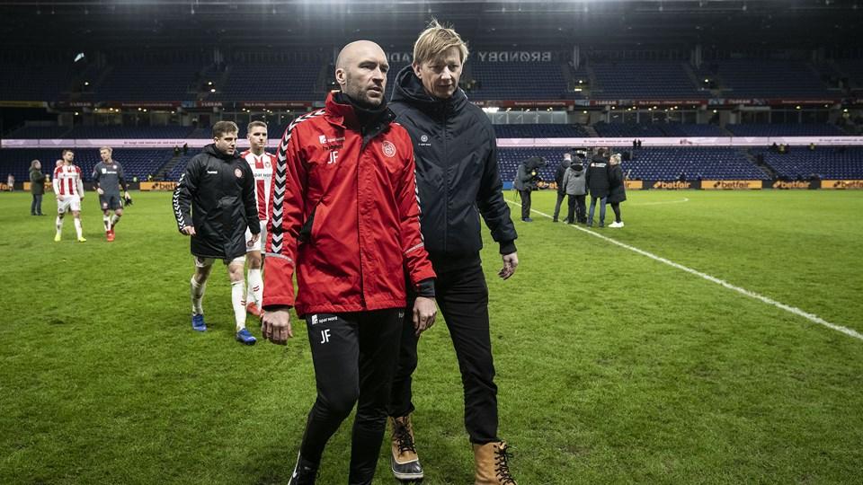 AaB spillede 3-3 søndag på Brøndby Stadion. Nordjyderne ligger derfor på den forkerte side af top-6-stregen inden søndagens hjemmekamp mod AGF i grundspillets sidste spillerunde.