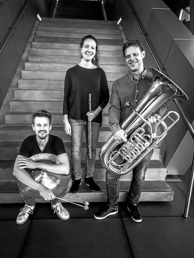 Trioen spiller vellydende kammermusik.Pressefoto
