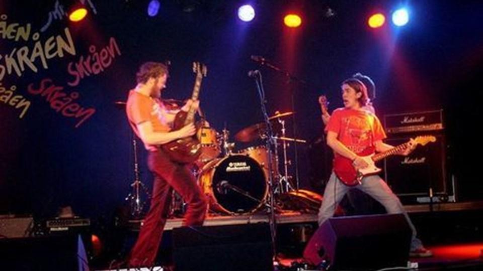 Rockbandet Topnudge spiller på Skråen, når fire spillesteder i Aalborg åbner dørene. arkivfoto