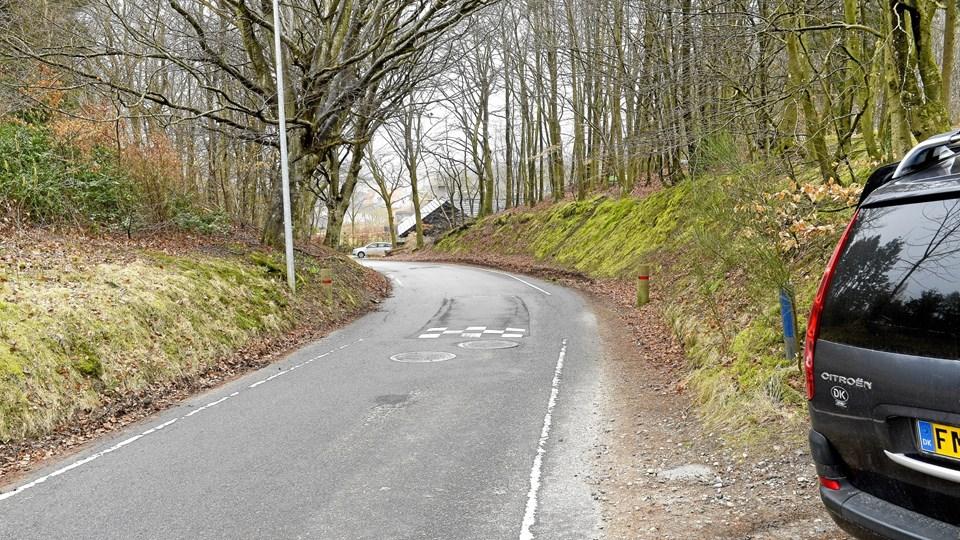 Ifølge Morten Lem (S) vil en vejudvidelse med anlæg af en dobbeltrettet cykelsti langs Hanehøjvej i Skørping ødelægge for meget. Arkivfoto: Michael Bygballe