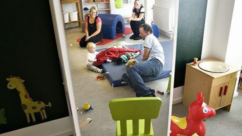 UNDER PRES - Børnehaven Solstrålen i Hadsund har for nylig oprettet en ny småbørnsgruppe til seks børn, og nu er der ikke plads til flere børn i institutionen. Foto: Claus Søndberg