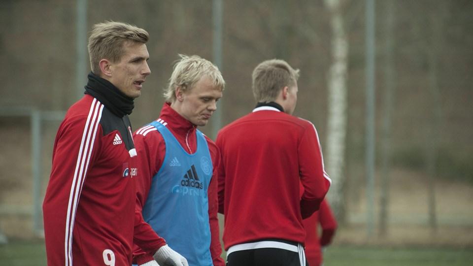 Kasper Pedersen skal støtte sig til veteranerne i kampen, men de har tiltro til ham. Foto: Grete Dahl