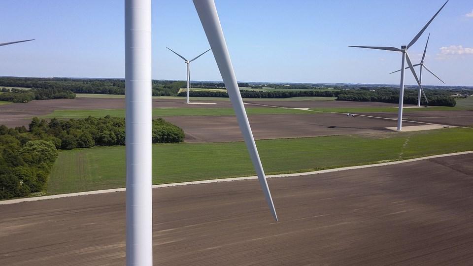 De nye møller ved Veddum bliver på højde med møllerne  på Handest Hede syd for Hobro.