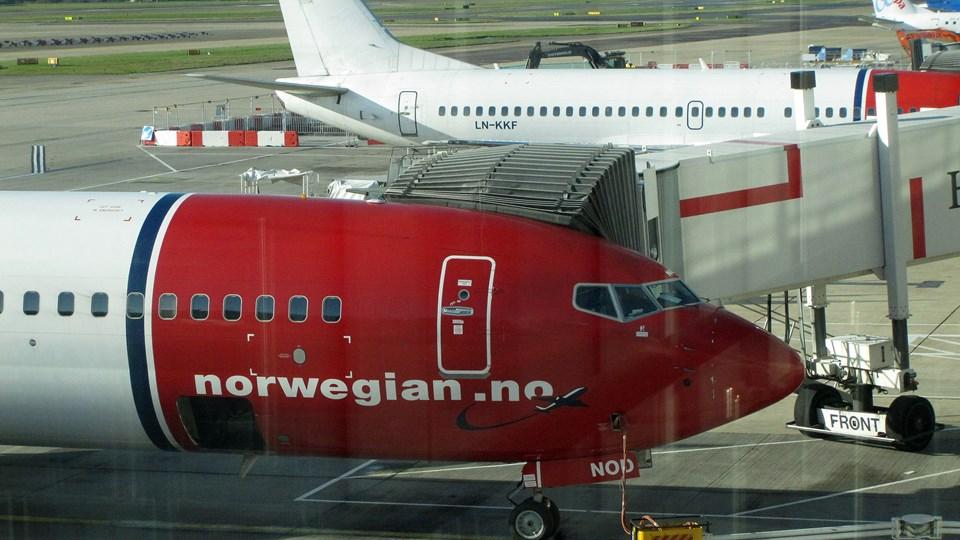 For at øge sin konkurrenceevne forsøger flyselskabet Norwegian nu at rejse 1,3 milliarder norske kroner ved en såkaldt rettet aktieemission. Foto: Scanpix/Steffen Ortmann
