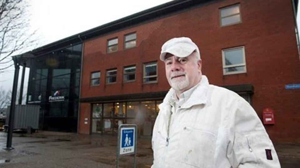 Murermester Jens Jørgen Kristensen kritiserer Frederikshavn Kommune for kammerateri og vennetjenester. Foto: Bente Poder