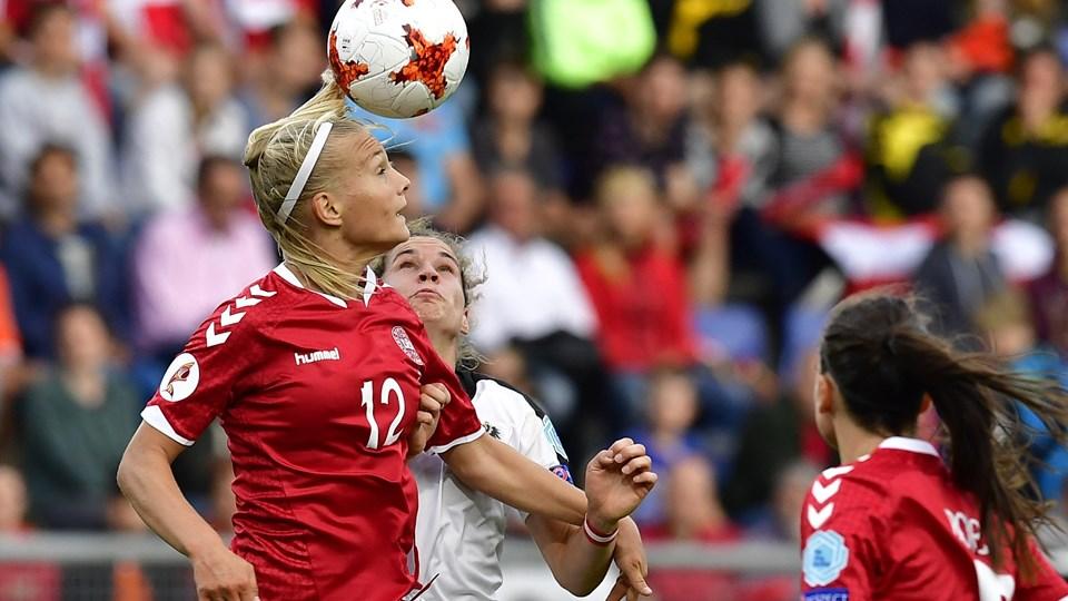Stine Larsen var en af profilerne, da Danmark sidste sommer vandt sølv ved EM i Holland. Foto: Scanpix/Tobias Schwarz
