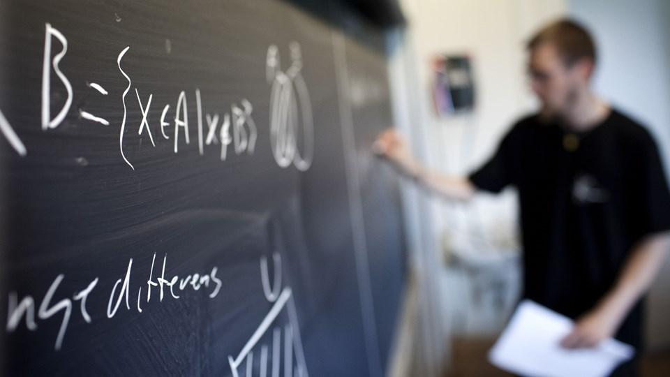 Skal uddannede lærere erstattes af arbejdsløse akademikere i Aalborgs folkeskoler? Aalborg Lærerforening er bange for, at sidstnævnte får fortrinsret til nye stillinger på grund af kommunens aftale med Teach First. Arkivfoto: Jens Nørgaard Larsen/ Scanpix