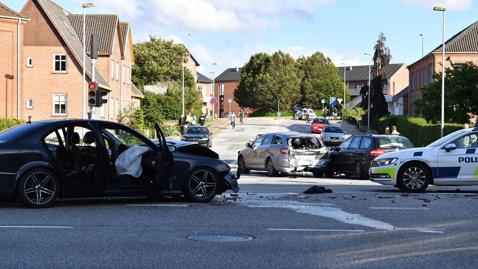 Drabet fandt sted umiddelbart efter en bilulykke. Foto: Jan Pedersen