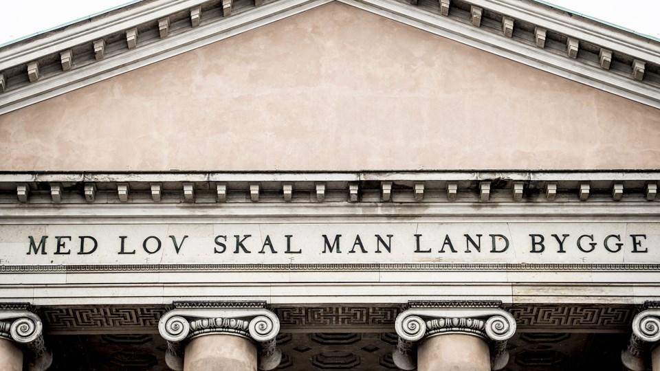 Københavns Byret har mandag haft endnu et lukket retsmøde i sagen om en 31-årig mand, der sigtes for have planer om terror i hovedstaden. Foto: Scanpix/Mads Claus Rasmussen/arkiv