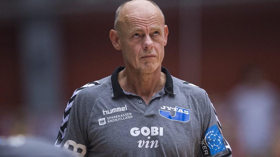 Århus-træner Erik Veje Rasmussen kunne notere en sejr i sæsonens første kamp i Herre Håndbold Ligaen hjemme mod Ringsted. Foto: Claus Fisker/arkiv/Ritzau Scanpix