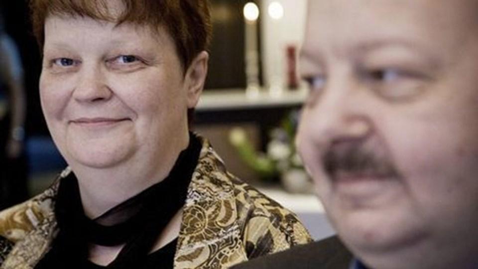 De skulle selv være gæster ved jubilæumsfesten lørdag, Helga og Henrik, men sådan gik det ikke, da tilstrømningen var overvældende. Foto: Hans Christian Jacobsen