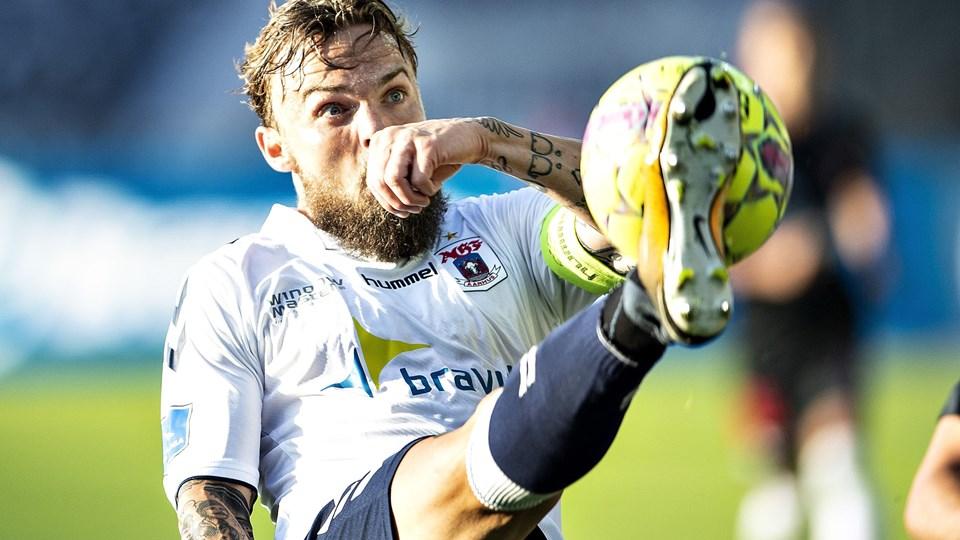 Pierre Kanstrup spillede for AGF indtil årsskiftet, hvor turen gik til Erzurum i tyrkisk fodbold. Han er nu i Vålerenga i Norge (arkivfoto).