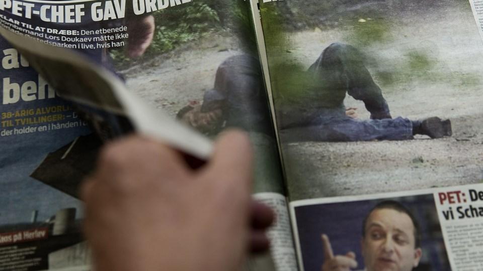 Fogedforbud imod dagens Ekstrablad. Foto: Scanpix/Jens Astrup