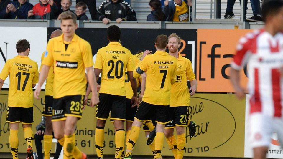 AC Horsens slog fredag AaB i en sjælden sejr i Alka Superligaens mesterskabsspil. Foto: Scanpix/Ernst Van Norde