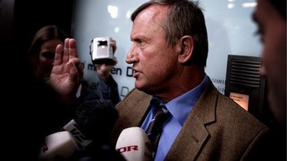 Peter Brixtofte taler ikke med journalisten Morten Pihl, som kom med de første afsløringer om stort vinforbrug.  Arkivfoto: Jeppe Micheal Jensen /Scanpix