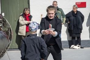 Børn og voksne fejrede trækfuglenes center