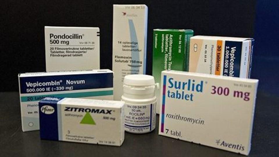Der bliver langet penicillin og andre typer antibiotika over disken som aldrig før herhjemme.  Foto: Grete Dahl
