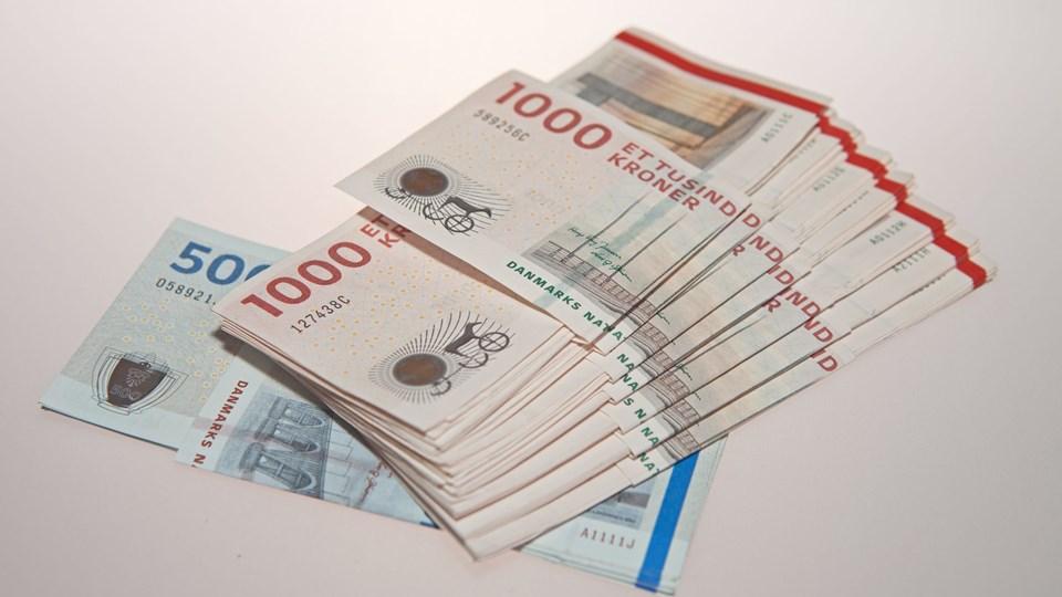 penge, kroner, bestikkelse, bedrageri Foto: Free/Peter Andersen 0045 40106628