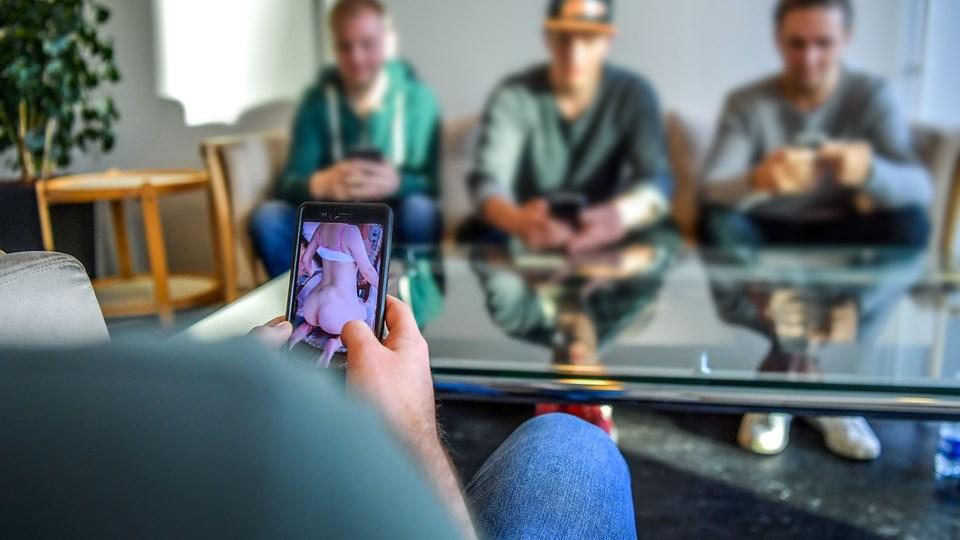 Kontakten mellem gerningsmand og offer bliver tit etableret på sociale medier som Snapchat. Arkivfoto: Jesper Thomasen