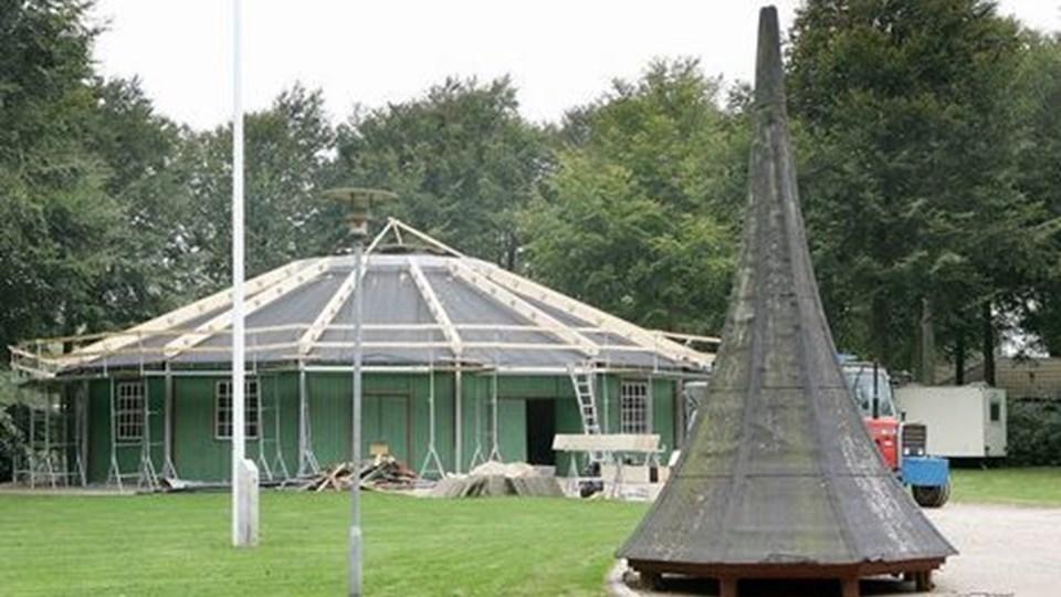 Den Runde Pavillon bliver slet ikke til at kende.  Foto: Kurt Bering