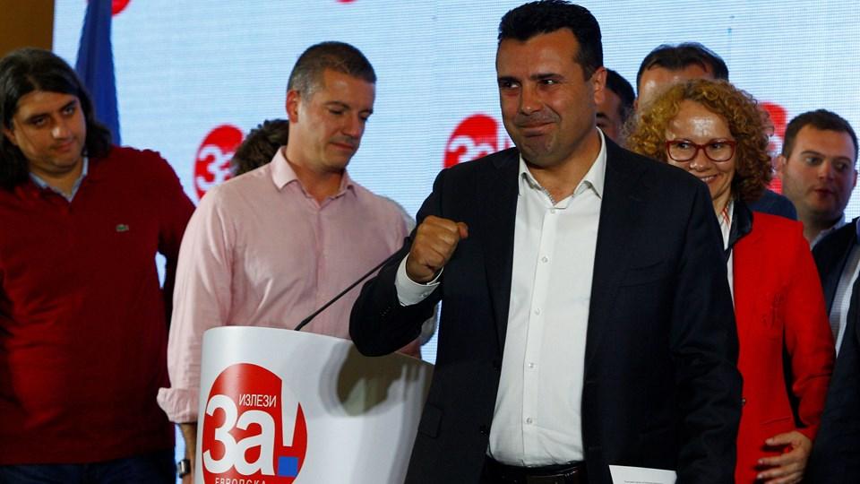 Udfaldet af en folkeafstemningen i Makedonien var en skuffelse for premierminister Zoran Zaev. Men han siger søndag aften, at han ikke vil opgive målet: At nærme sig EU og Nato. Foto: Ognen Teofilovski/Reuters