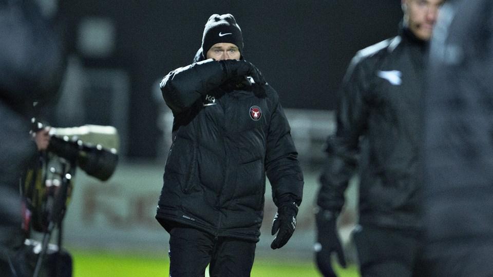Kenneth Andersen og FC Midtjylland er tre point efter FC København i toppen af Superligaen.