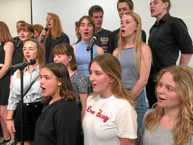 Sommermatineen blev indledt med fællessang - Den lille lysegrønne sang