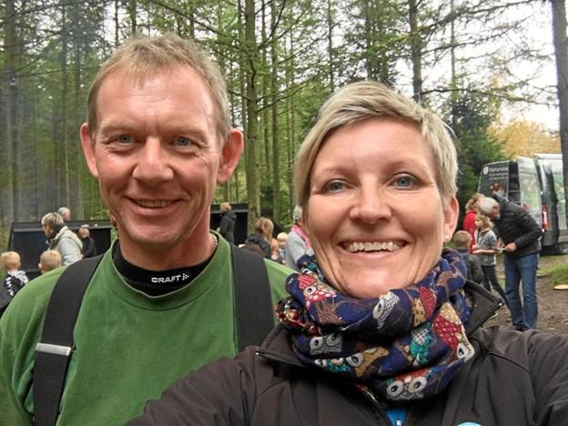 Lars Wachmann og Karin Winther er klar til at tage imod efterårsferiegæsterne. Privatfoto