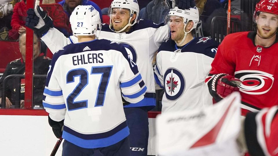 Nikolaj Ehlers spillede en afgørende rolle, da Winnipeg Jets slog New Jersey Devils. Foto: Scanpix/James Guillory