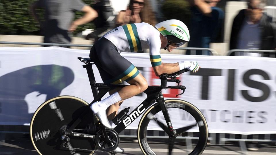 Rohan Dennis er regerende verdensmester i enkeltstart. Her ses australieren på vej med VM-titlen i Innsbruck sidste år.