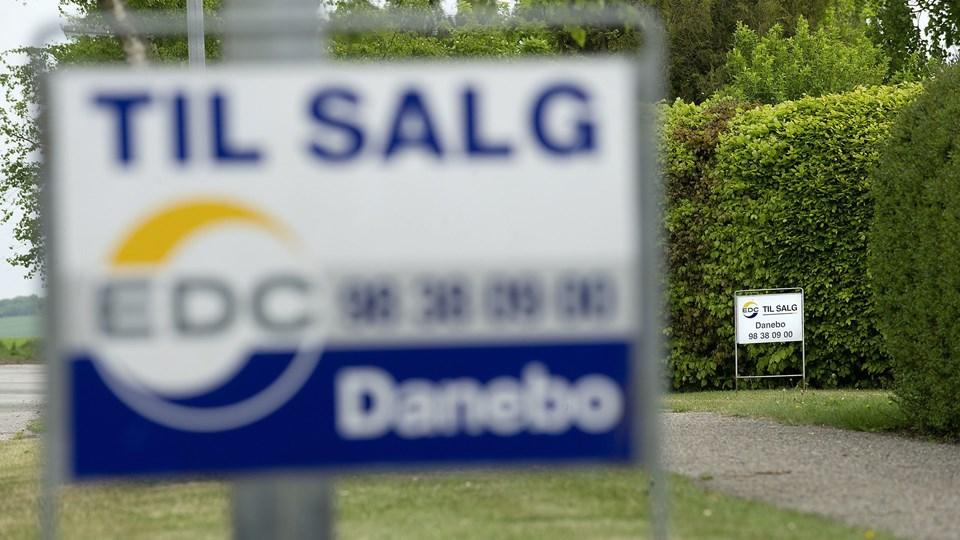 Den gennemsnitlige salgspris på huse i Nordjylland er steget med 6,3 procent på et år. Arkivfoto