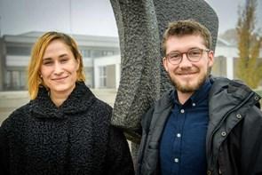 Mød stjernerne: Rosalinde Mynster og Sebastian Jessen er i Aalborg