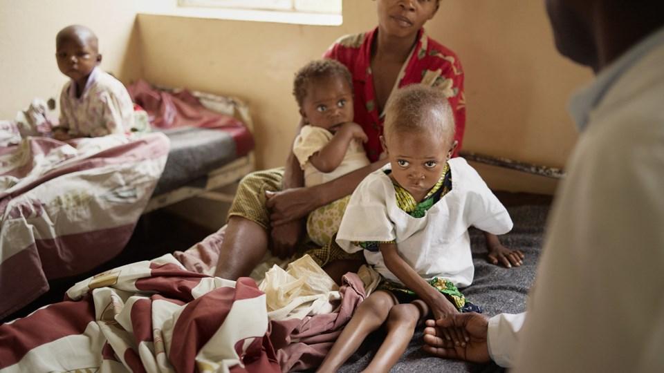 I Den Demokratiske Republik Congo er der ifølge Red Barnets undersøgelse over 300.000 børn, der risikerer at dø af sult inden året er omme. Foto: Mads Nissen/arkiv/Ritzau Scanpix