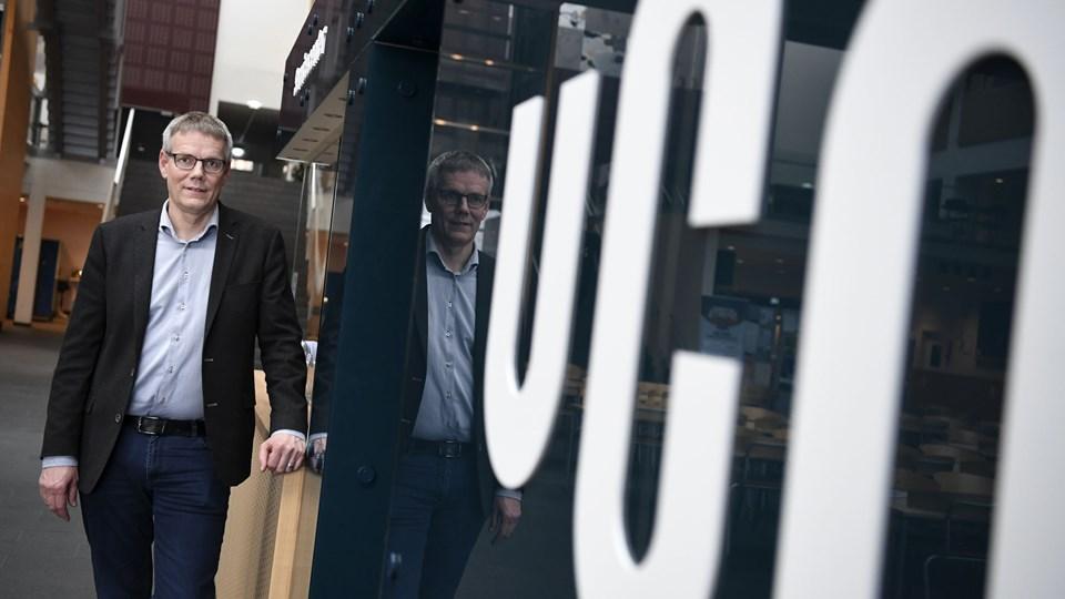 Peter Møller Pedersen, der er uddannelsesdirektør på Professionshøjskolen UCN er ikke overrasket over at de senere års rekordsøgning ikke er fortsat. Foto: Mette Nielsen