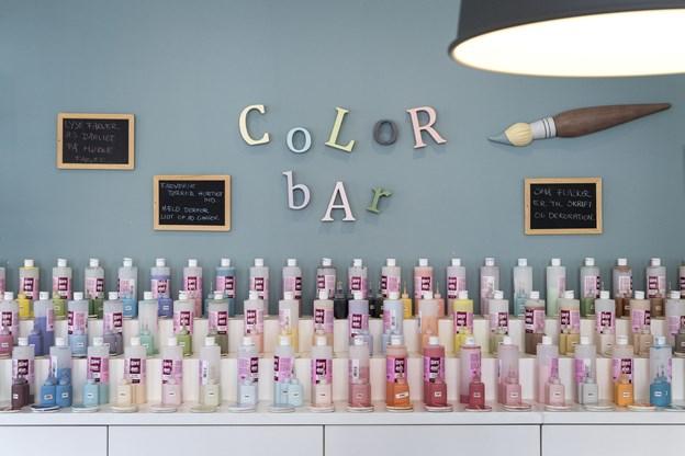 Farver i alle nuancer kan man vælge.