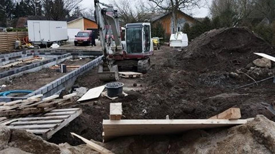 Ulykken skete på denne byggeplads i Herringløse. Foto: Jens Nørgaard Larsen/Scanpix