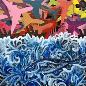 Kvadratisk kunst i Rotunden