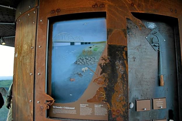 I tårnet kører der skærme med oplysninger. Foto: Hans B. Henriksen Hans B. Henriksen
