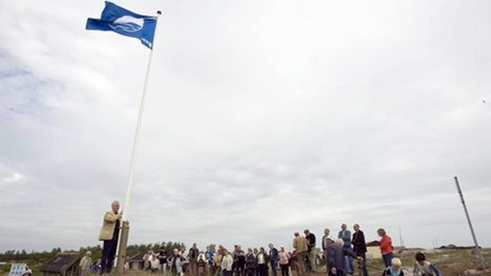 Asaa strand er ikke ren nok til, at det Blå Flag kan hejses i år. Og det vækker forundring. Hildo Rasmussen mener, at kommunen bærer ansvaret. Arkivfoto Henrik Louis