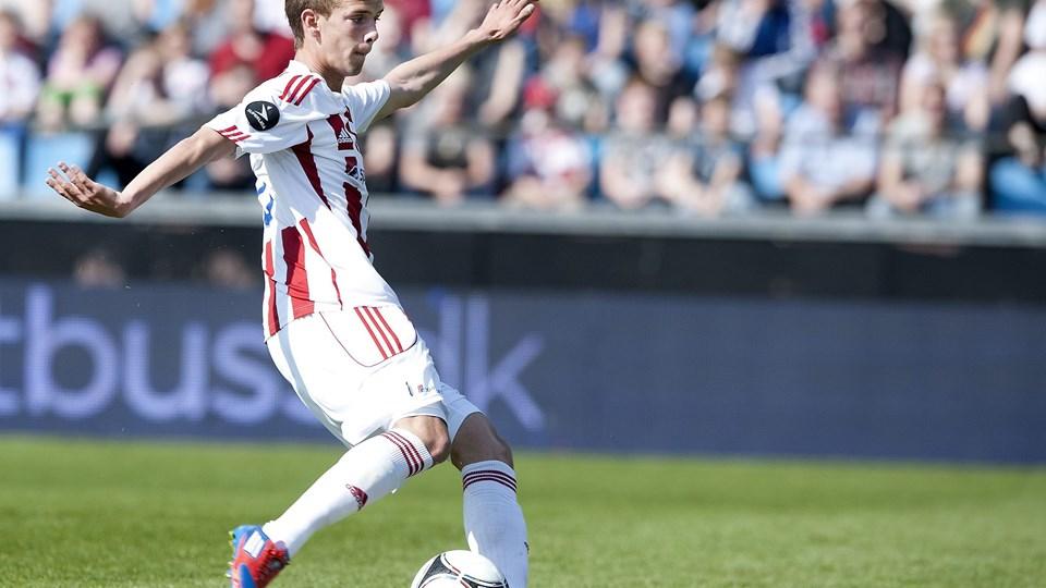 Lucas Andersen var meget tæt på et skifte til Club Brügge, da Ajax Amsterdam dukkede op. Foto: Torben Hansen.