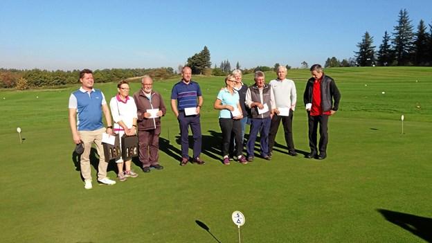 Dagens vindere i Restaurant Golfens match.Foto: Bente Hjortkær