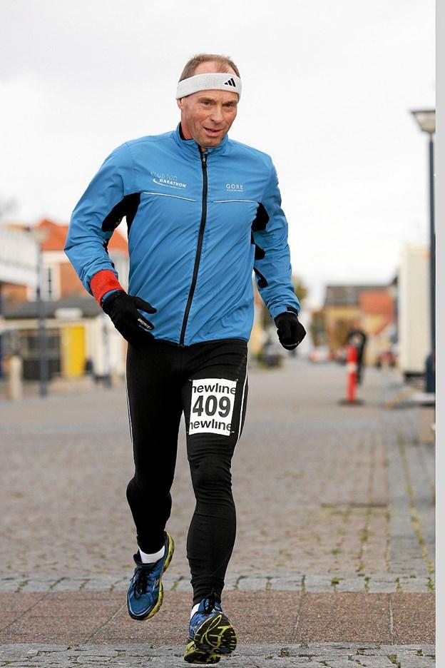 Medarrangør Bjarne Jensen forventer at runde sit eget maraton nummer 347 på dagen. Foto: Allan Mortensen